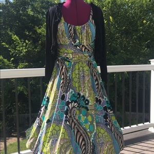 Maggie London beautiful full skirt dress